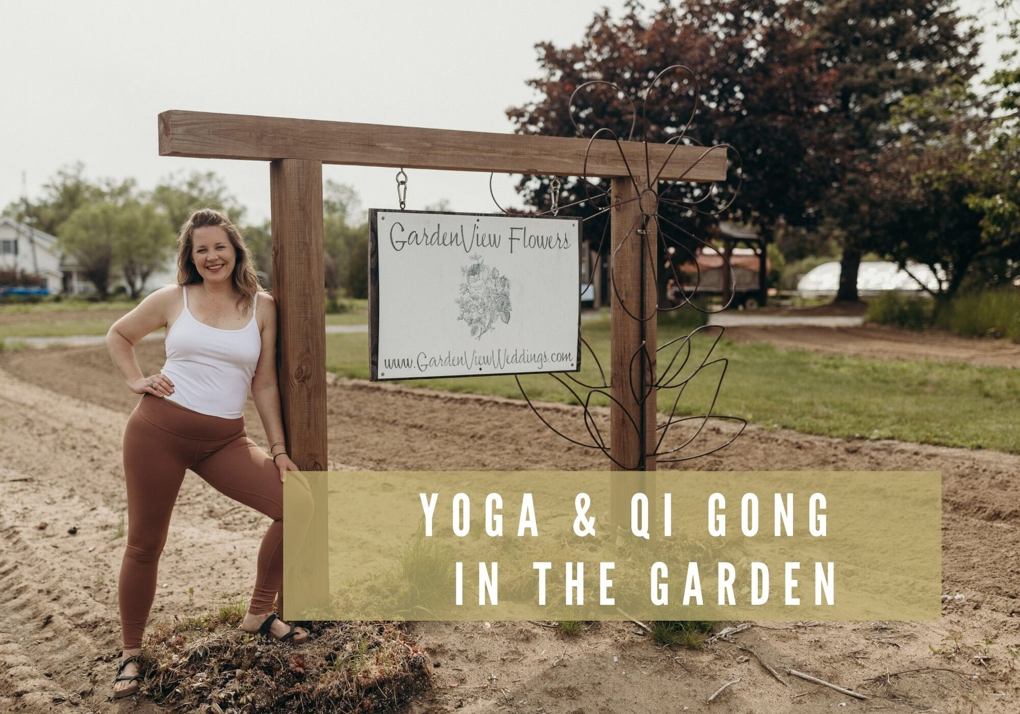 Landscape Yoga in the garden